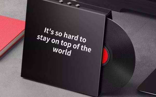 小米有品上架桌面藍牙歌詞音箱M1 黑膠唱片創意外觀